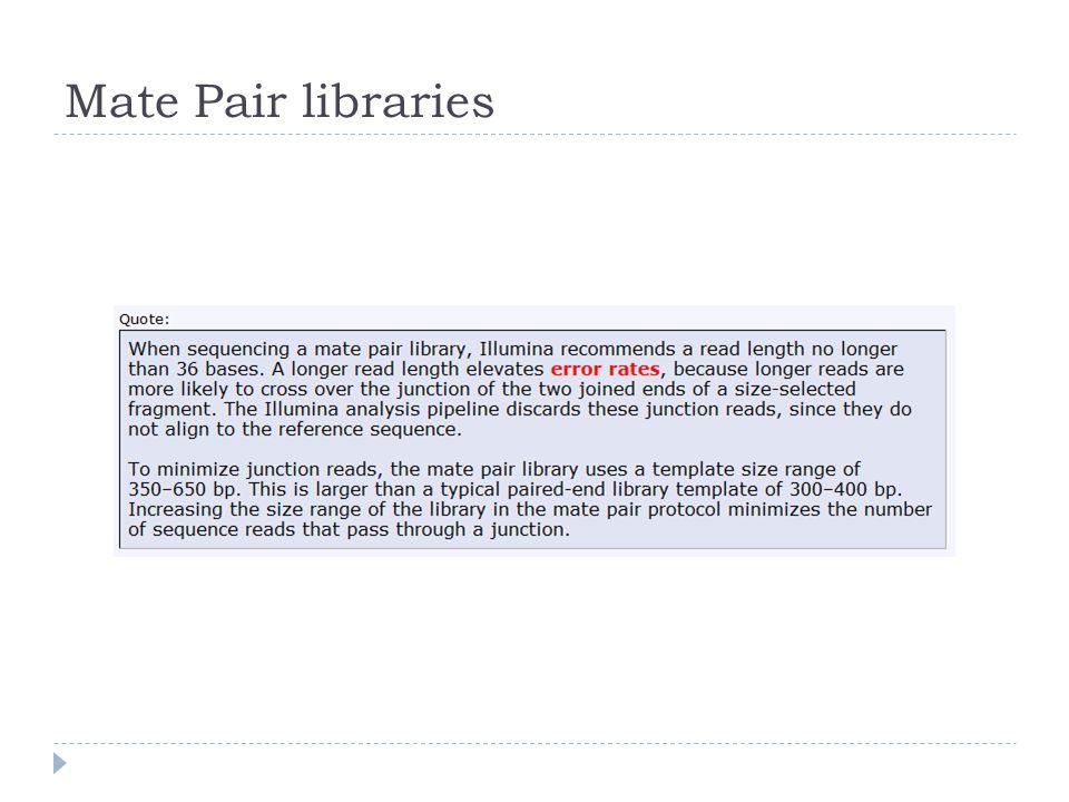 Mate Pair libraries