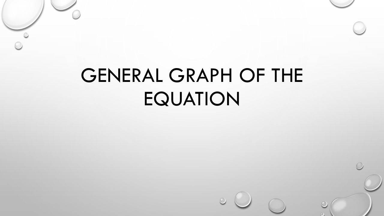 GENERAL GRAPH OF THE EQUATION