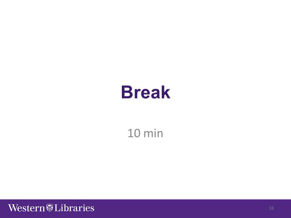 Break 10 min 18
