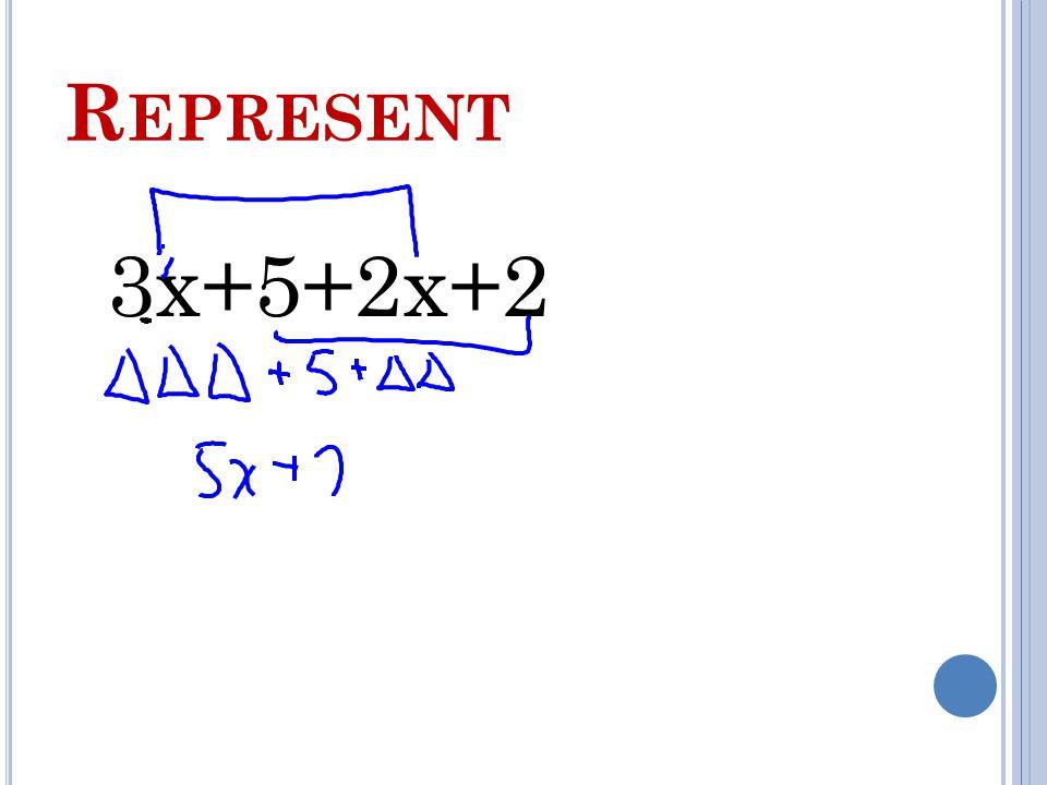 R EPRESENT 3x+5+2x+2