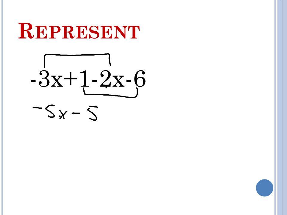 R EPRESENT -3x+1-2x-6