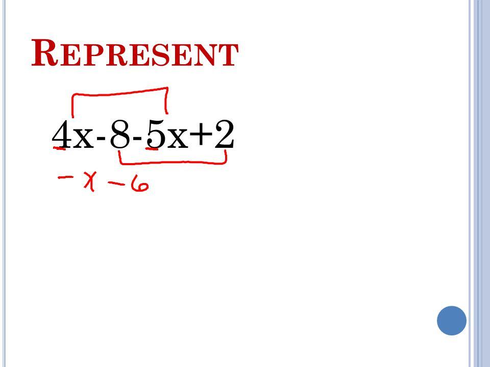 R EPRESENT 4x-8-5x+2