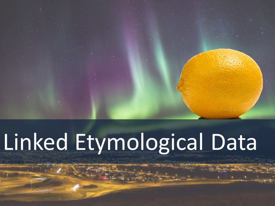 Linked Etymological Data