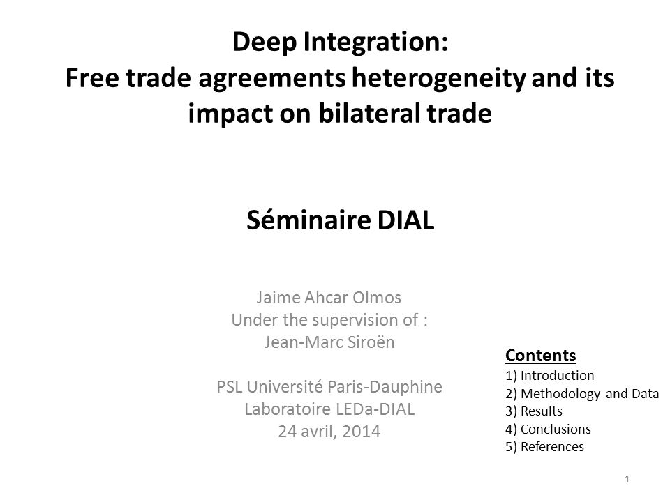 Deep integration: Latent trait analysis (Rasch) indicator Dur and al (2014) and additive indicator on levels and logs.