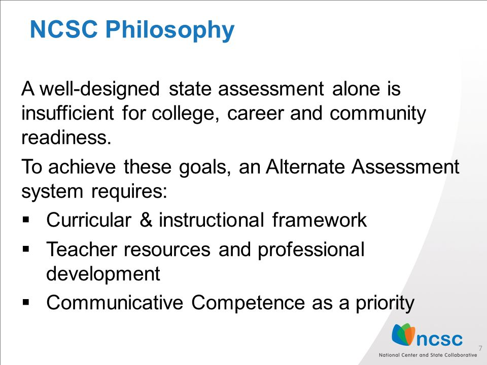 NCSC Curriculum and Instructional Resources https://wiki.ncscpartners.org https://wiki.ncscpartners.org 8