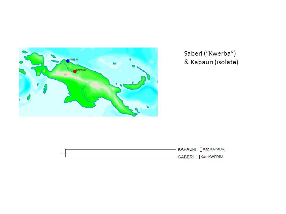 Saberi ( Kwerba ) & Kapauri (isolate)