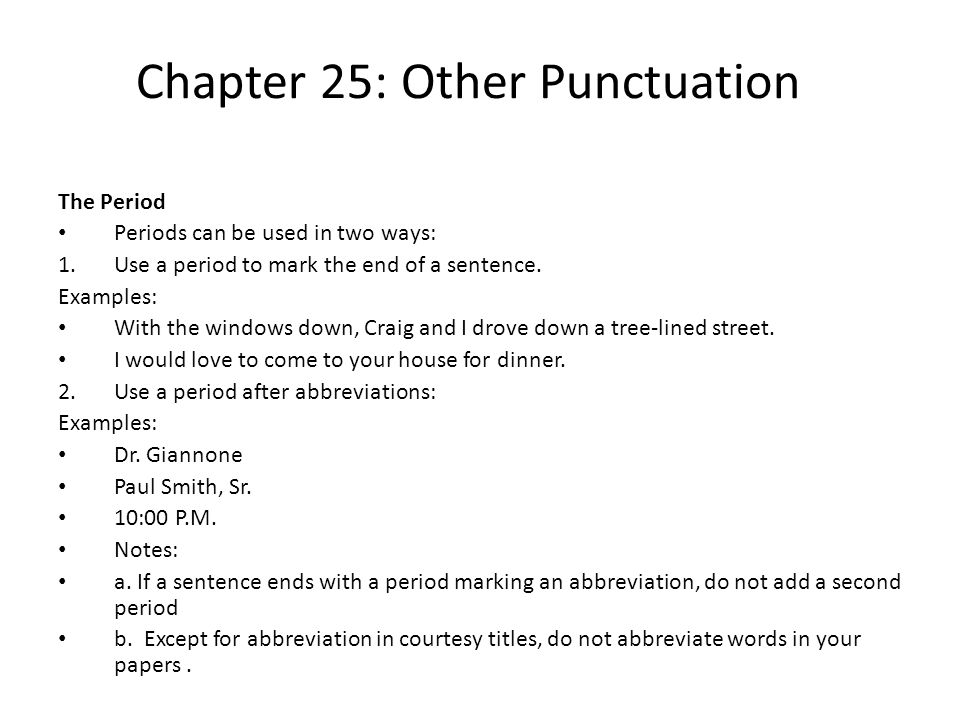 Chapter 25: Other Punctuation The Question Mark Use a question mark after a direct question.