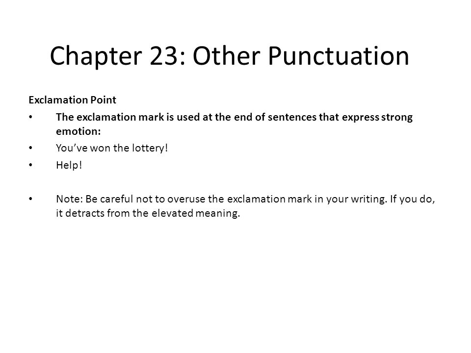 Chapter 23: Other Punctuation Exercises Add missing periods and question marks.