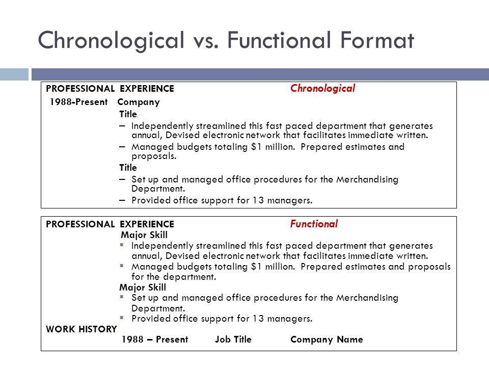Captivating Chronological Resume Vs Functional Resume Regard To Functional Resume Vs Chronological