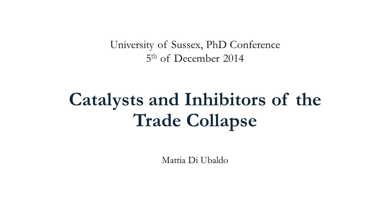 Motivation & Context - 1 29/10/2014Mattia Di Ubaldo, University of Sussex2 The Slovenian Experience Growth of GDP Growth of trade