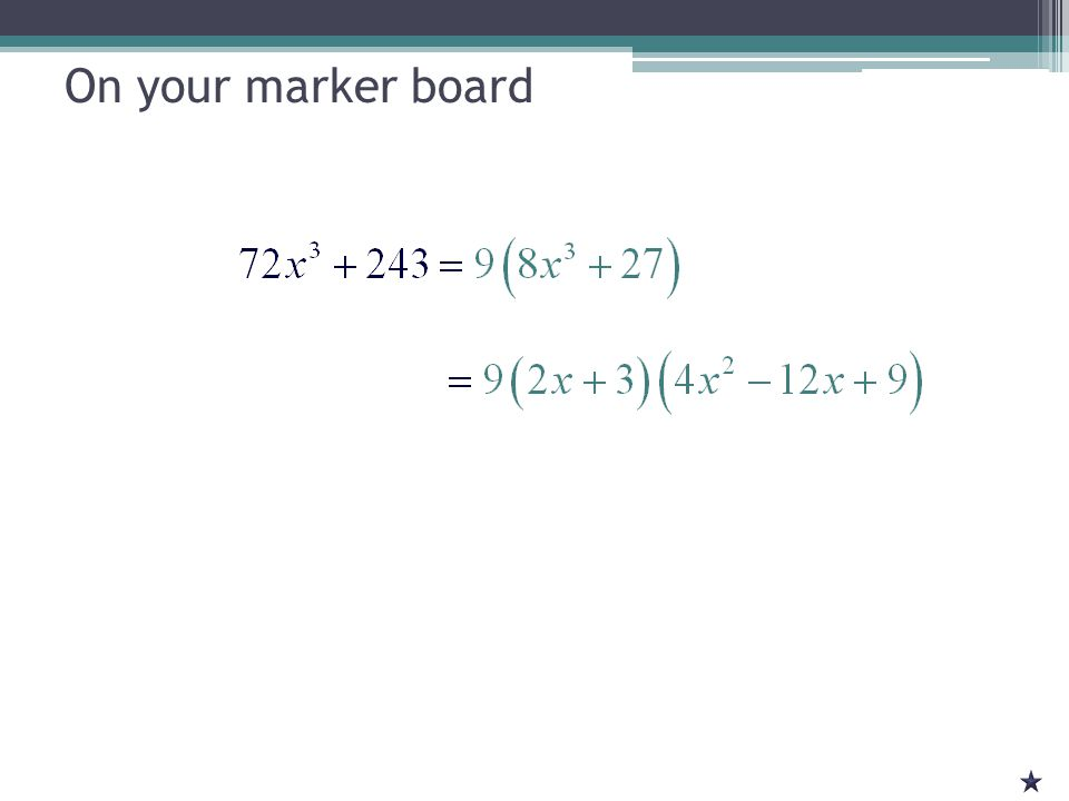 Previously in Math Solving Quadratic Equations ▫Factor ▫Square Root ▫Complete the Square ▫Quadratic Formula