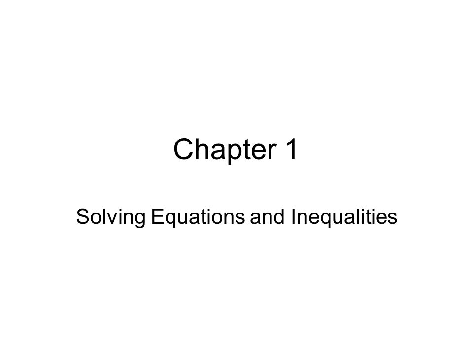 1.1 – Expressions and Formulas