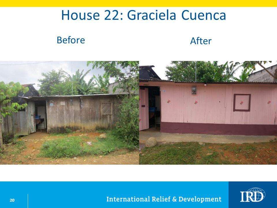 20 House 22: Graciela Cuenca Before After