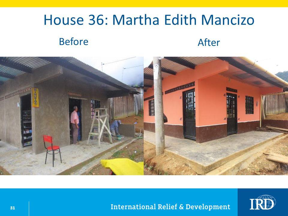 31 House 36: Martha Edith Mancizo Before After