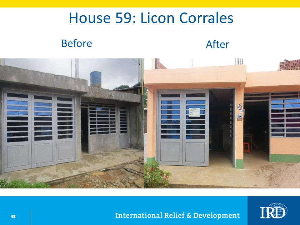 48 House 59: Licon Corrales Before After