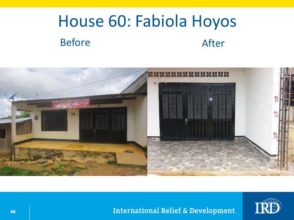 49 House 60: Fabiola Hoyos Before After