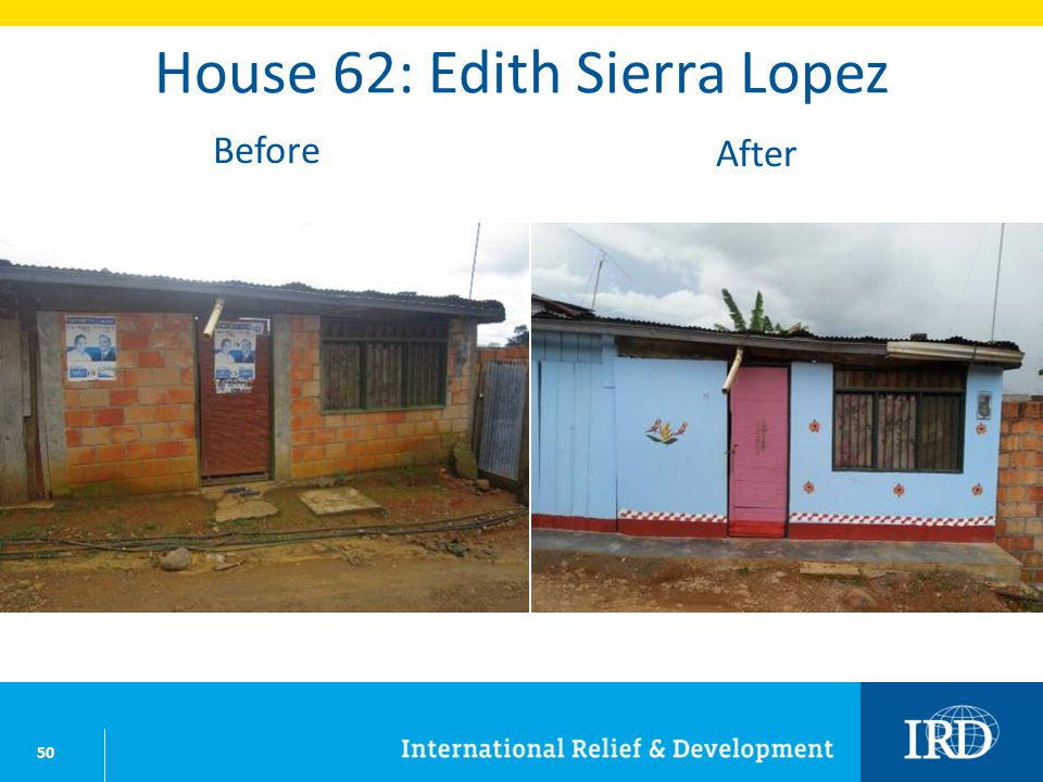 50 House 62: Edith Sierra Lopez Before After
