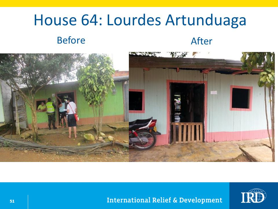 51 House 64: Lourdes Artunduaga Before After
