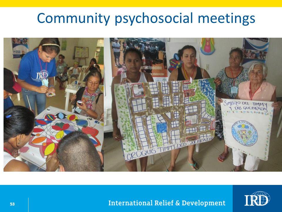 53 Community psychosocial meetings
