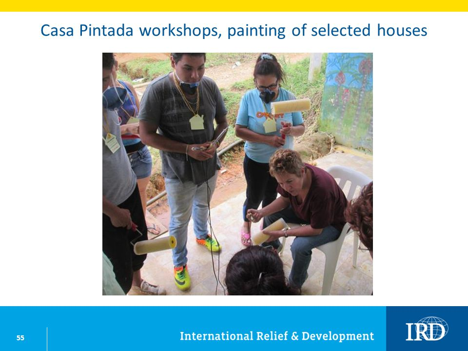55 Casa Pintada workshops, painting of selected houses