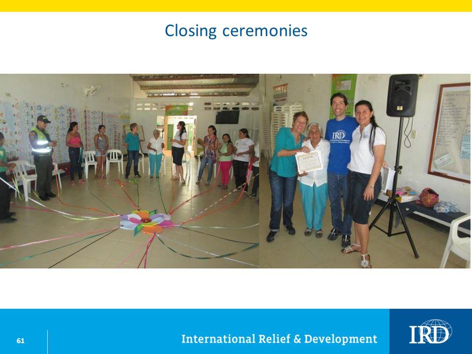 61 Closing ceremonies
