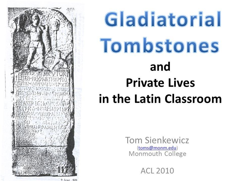 Tom Sienkewicz (toms@monm.edu) Monmouth College ACL 2010toms@monm.edu