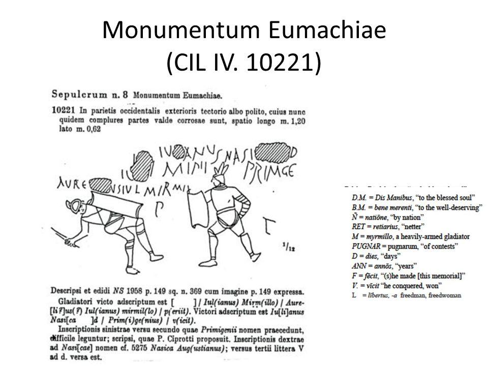 Monumentum Eumachiae (CIL IV. 10221)