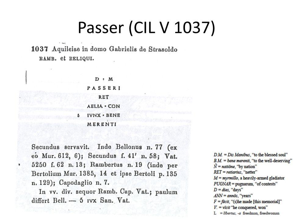 Passer (CIL V 1037)