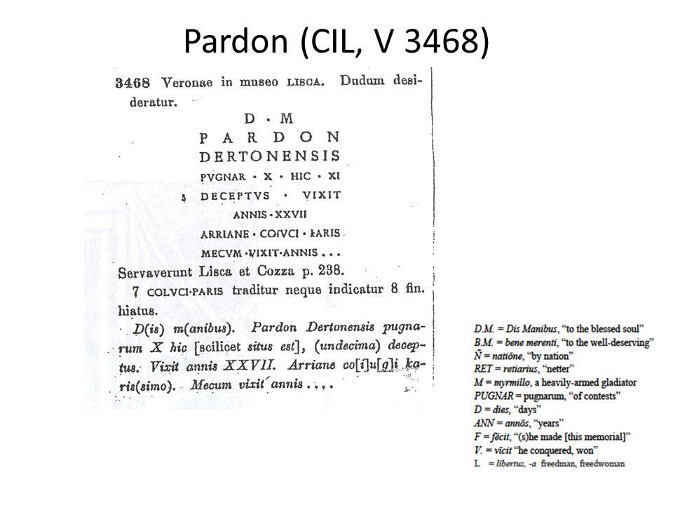 Pardon (CIL, V 3468)