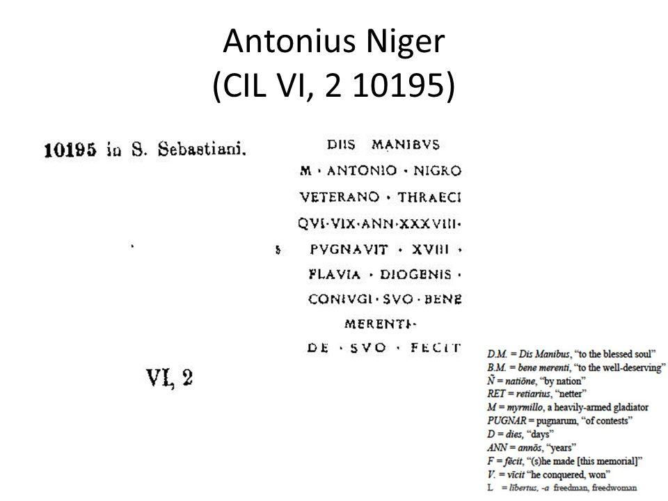 Antonius Niger (CIL VI, 2 10195)