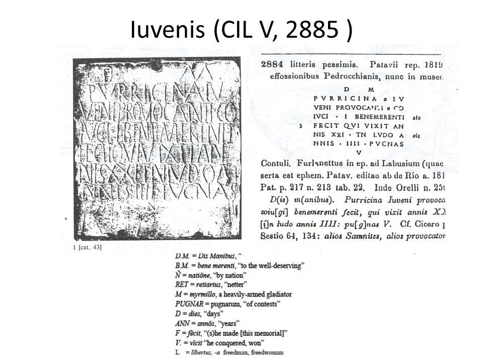 Iuvenis (CIL V, 2885 )