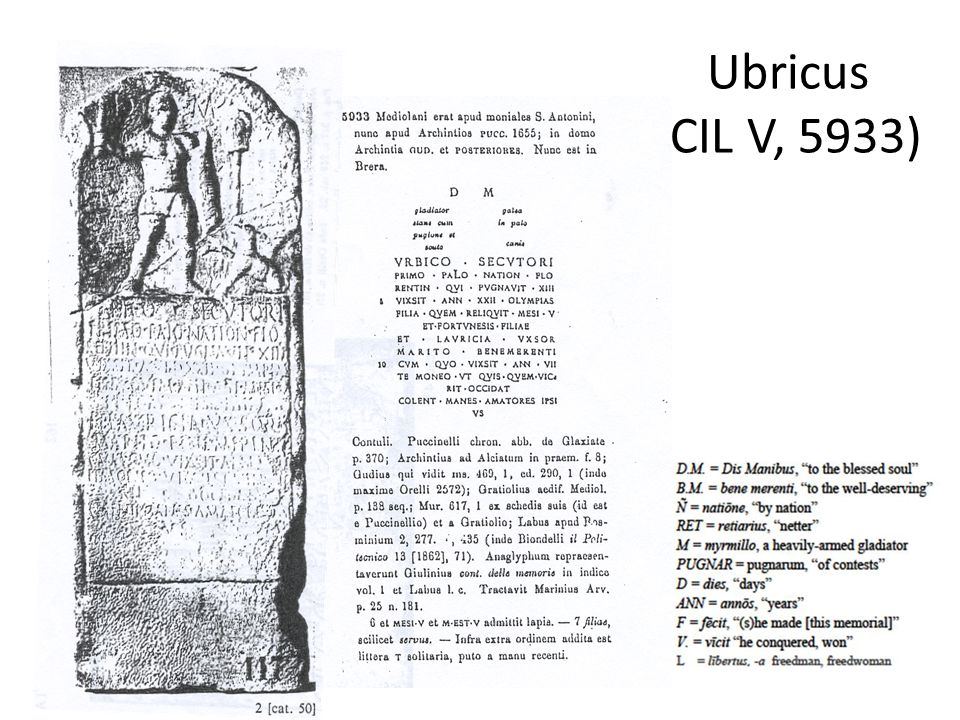 Ubricus (CIL V, 5933)
