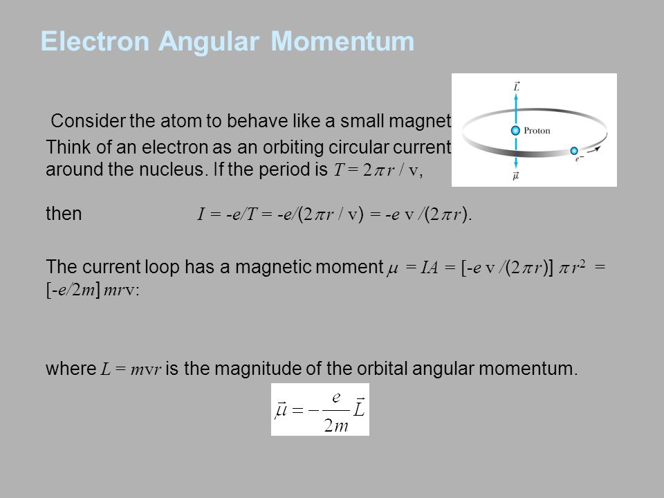 Consider the atom to behave like a small magnet.