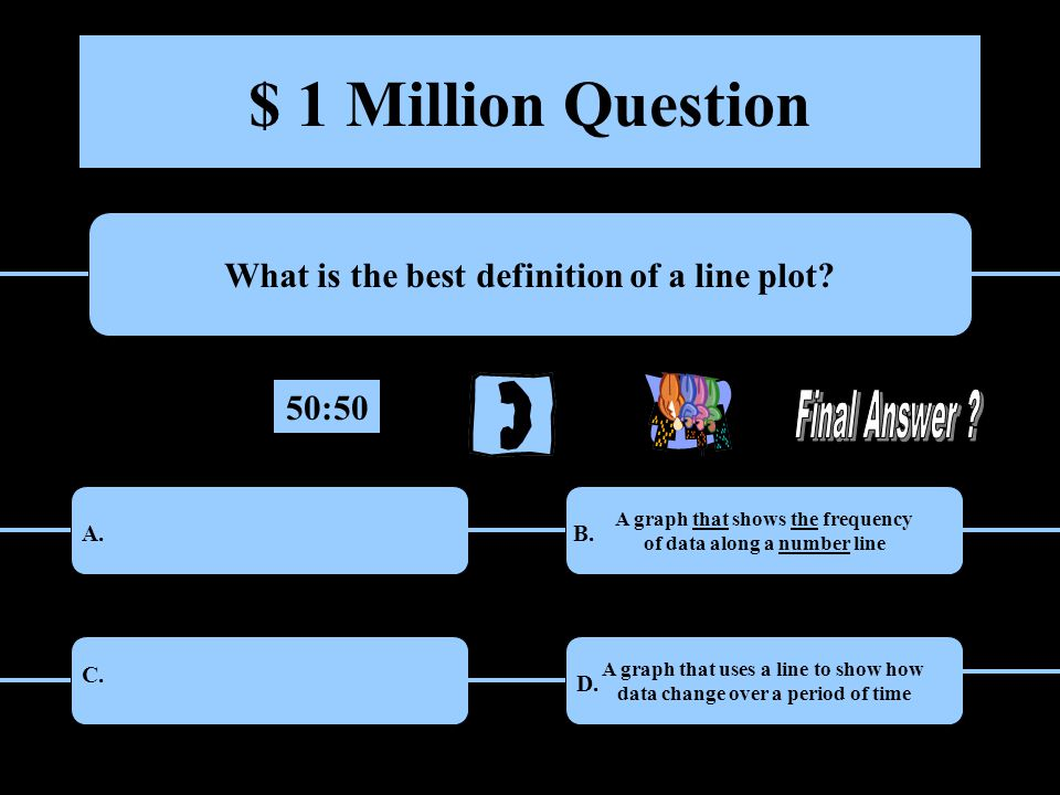 $ 1 Million Question What is the best definition of a line plot.