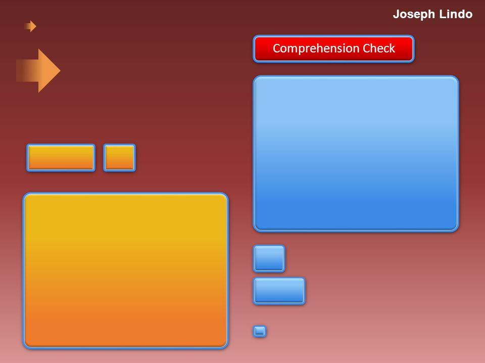 Joseph Lindo Comprehension Check