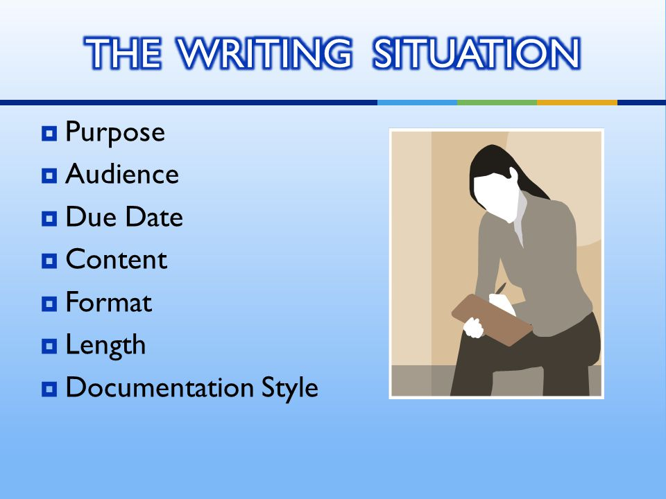  WRITING IS FIRST AND FOREMOST A THINKING TASK  Knowledge  Comprehension  Application  ANALYSIS  SYNTHESIS  EVALUATION