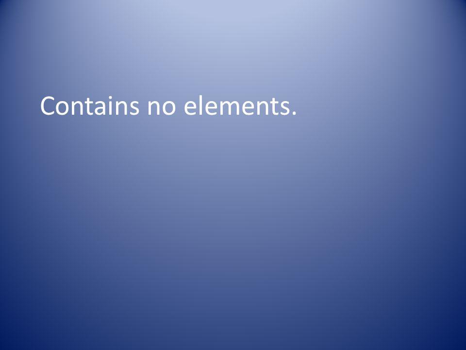 Contains no elements.