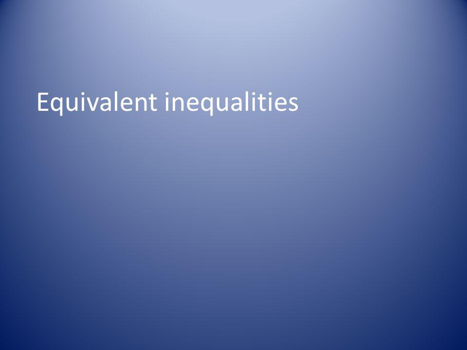 Equivalent inequalities