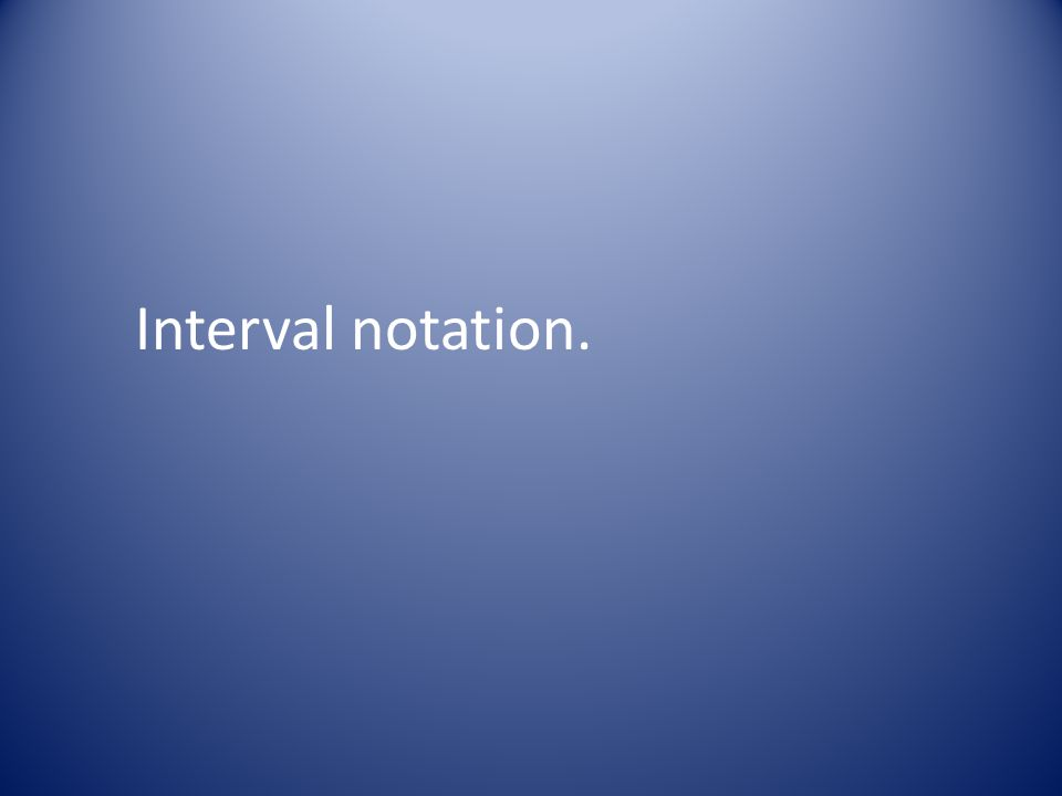 Interval notation.