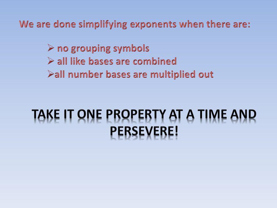 Simplify: = = = = =