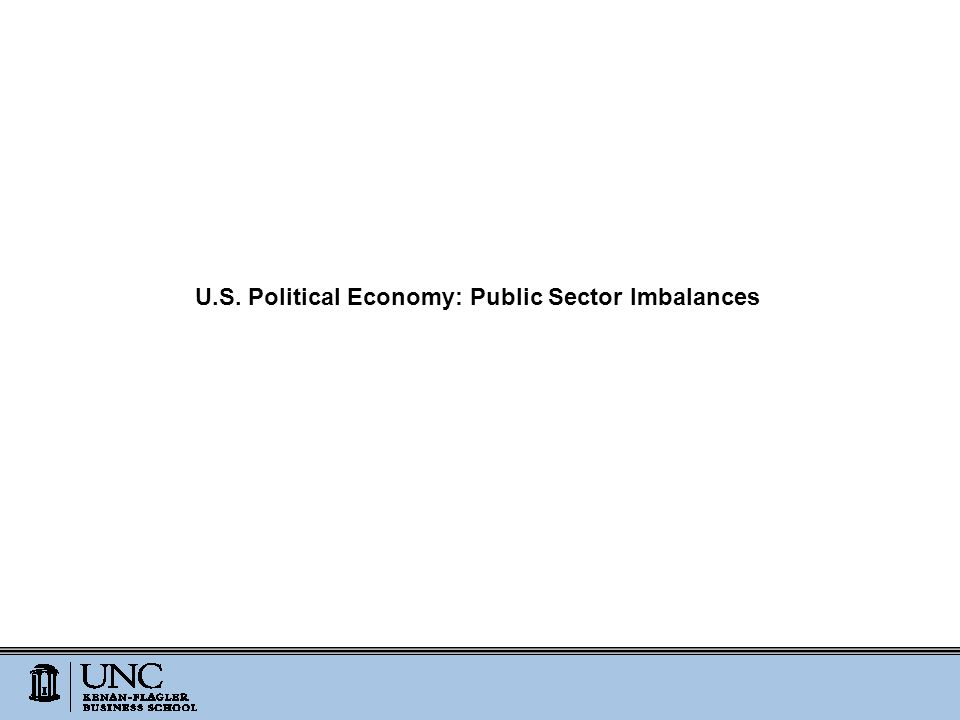 U.S. Political Economy: Public Sector Imbalances