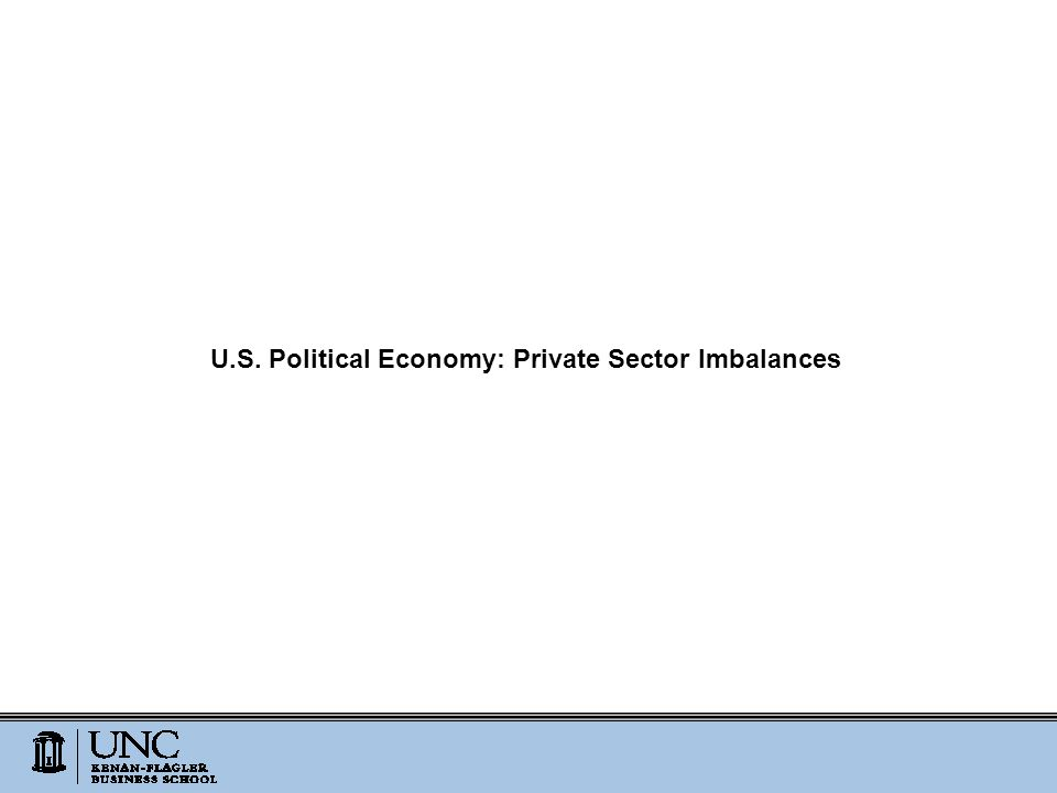 U.S. Political Economy: Private Sector Imbalances