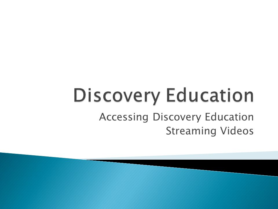 Accessing Discovery Education Streaming Videos