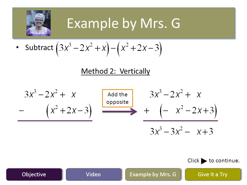 Example by Mrs. G Objective Video Example by Mrs.