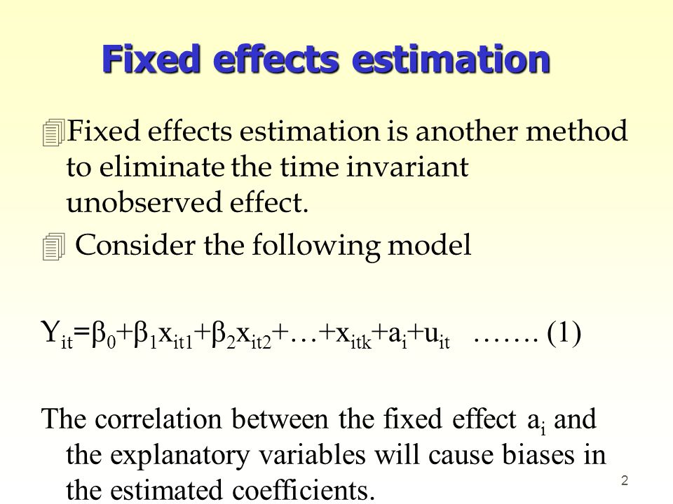 4Thus, we need to eliminate a i from the estimation.