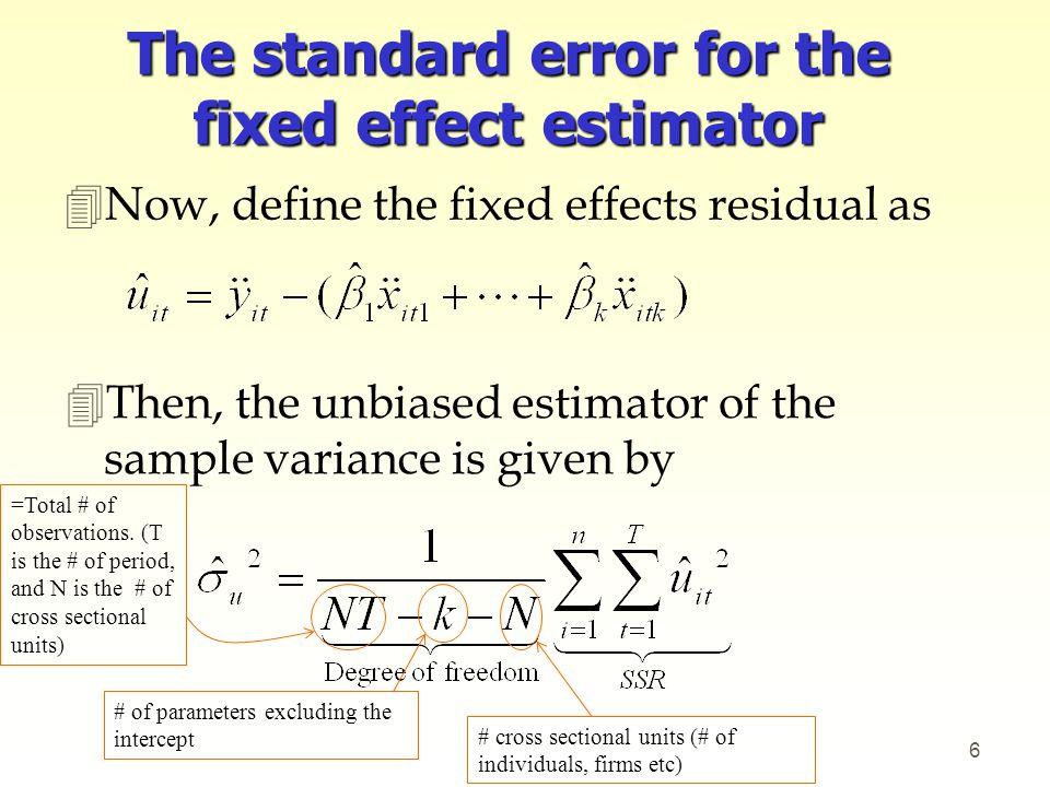 Example 4Estimate a log wage equation using WAGEPAN.dta.