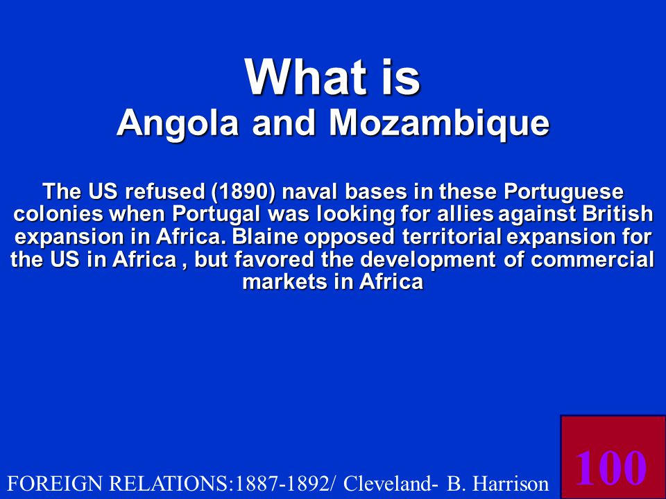 The US refused (1890) naval bases in the Portuguese colonies of THESE two African countries.
