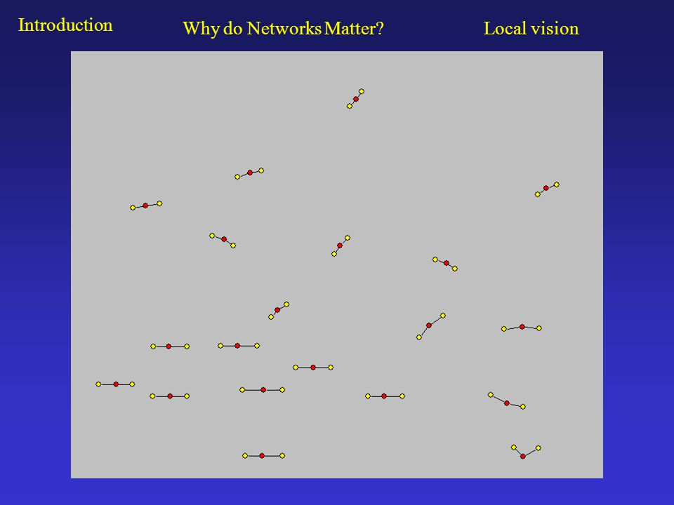 Local Network Analysis Introduction Local network analysis uses data from a simple ego-network survey.