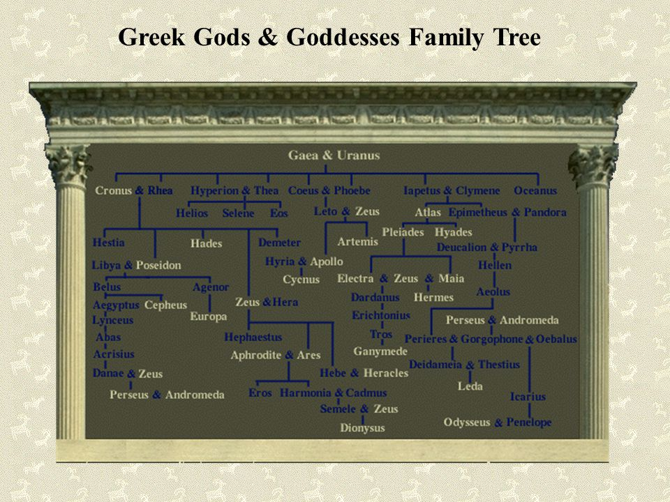Greek Gods & Goddesses Family Tree