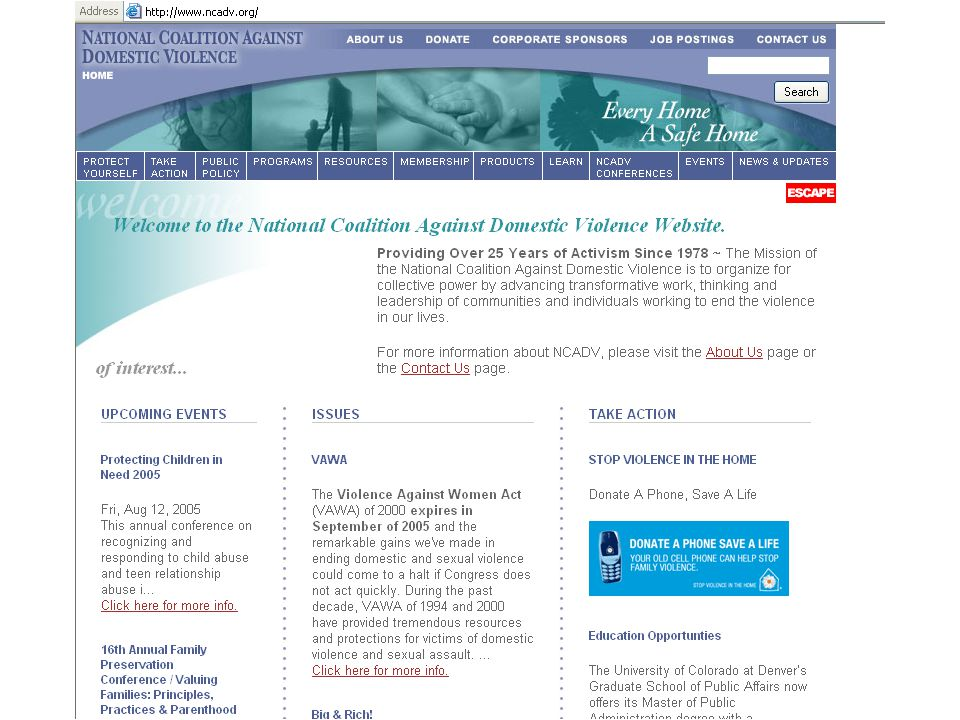 National Coalition Against DV